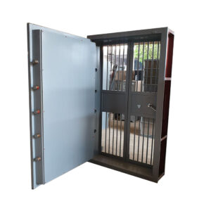 Heavy Duty Strong Room Door With Folding Grill
