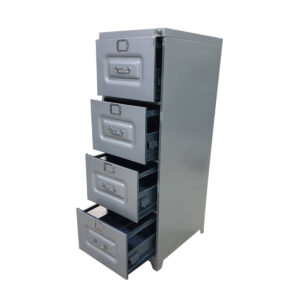 4 Drawer Steel File Cabinet With Automatic Push Lock