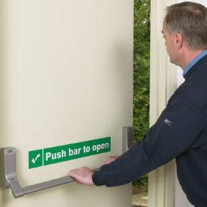 Fire Exit Door With Panic Bar (Single) Emergency Exit Door